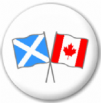 Scotland St Andrew and Canada Friendship Flag 25mm Pin Button Badge